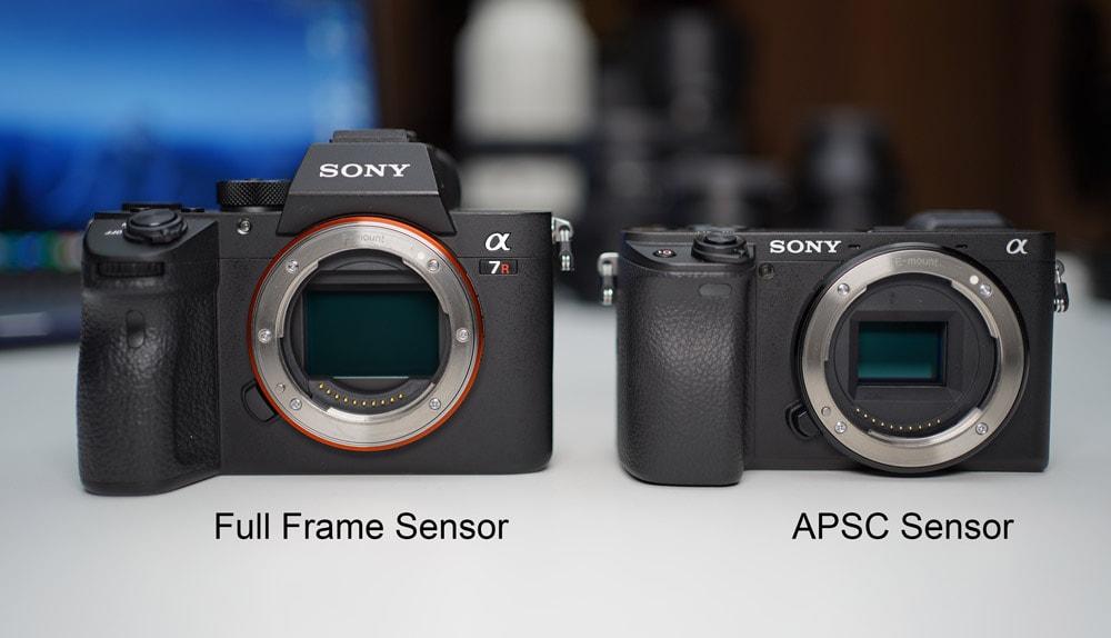 Sony full frame vs APSC crop sensor cameras