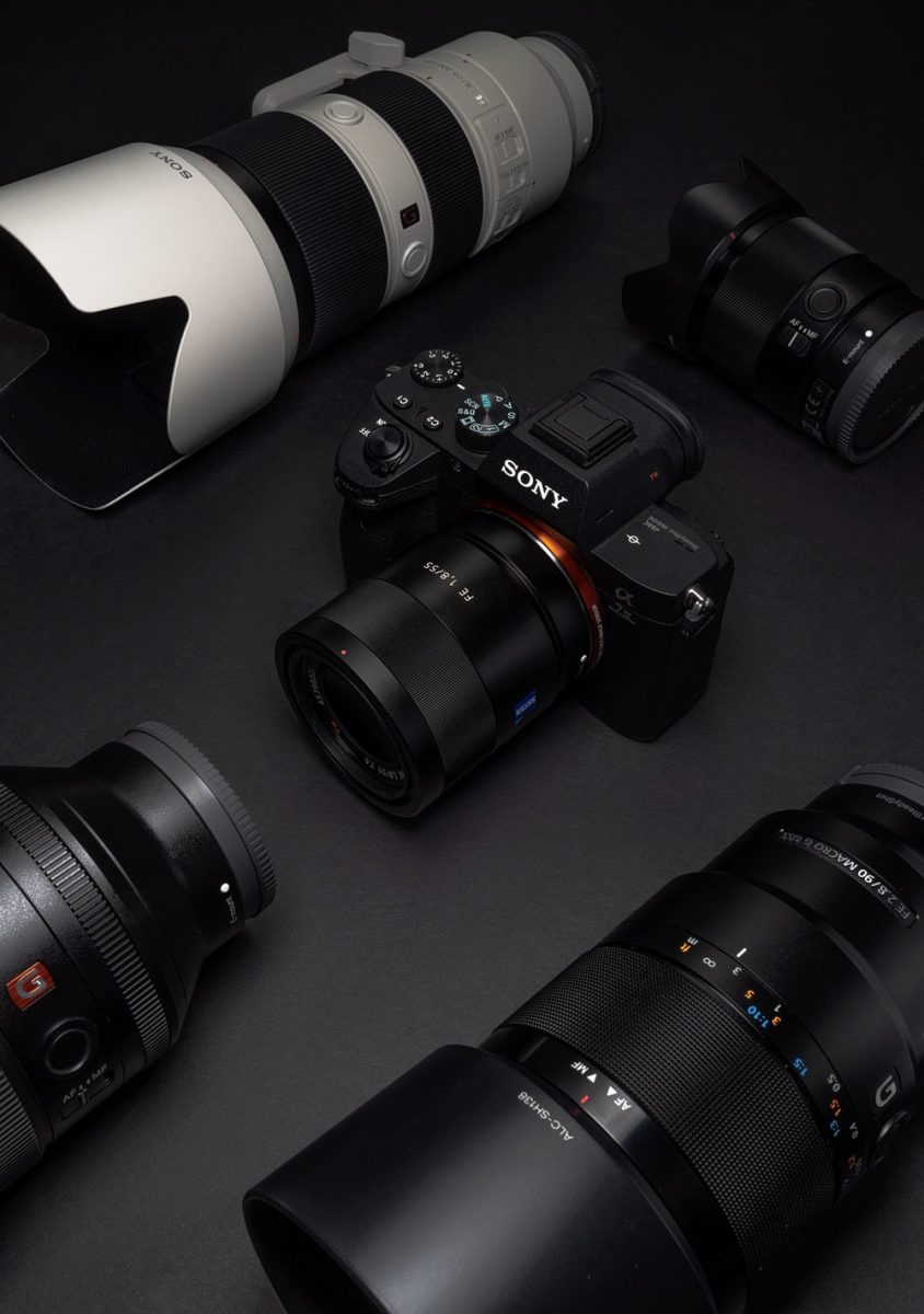Sony a7iii with lenses for sony full-frame cameras