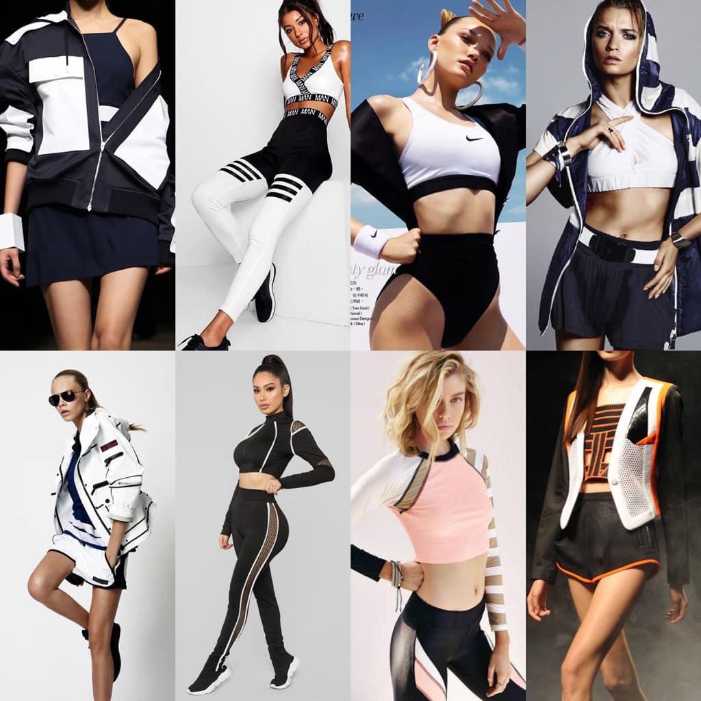 athletic fashion portraits moodboard