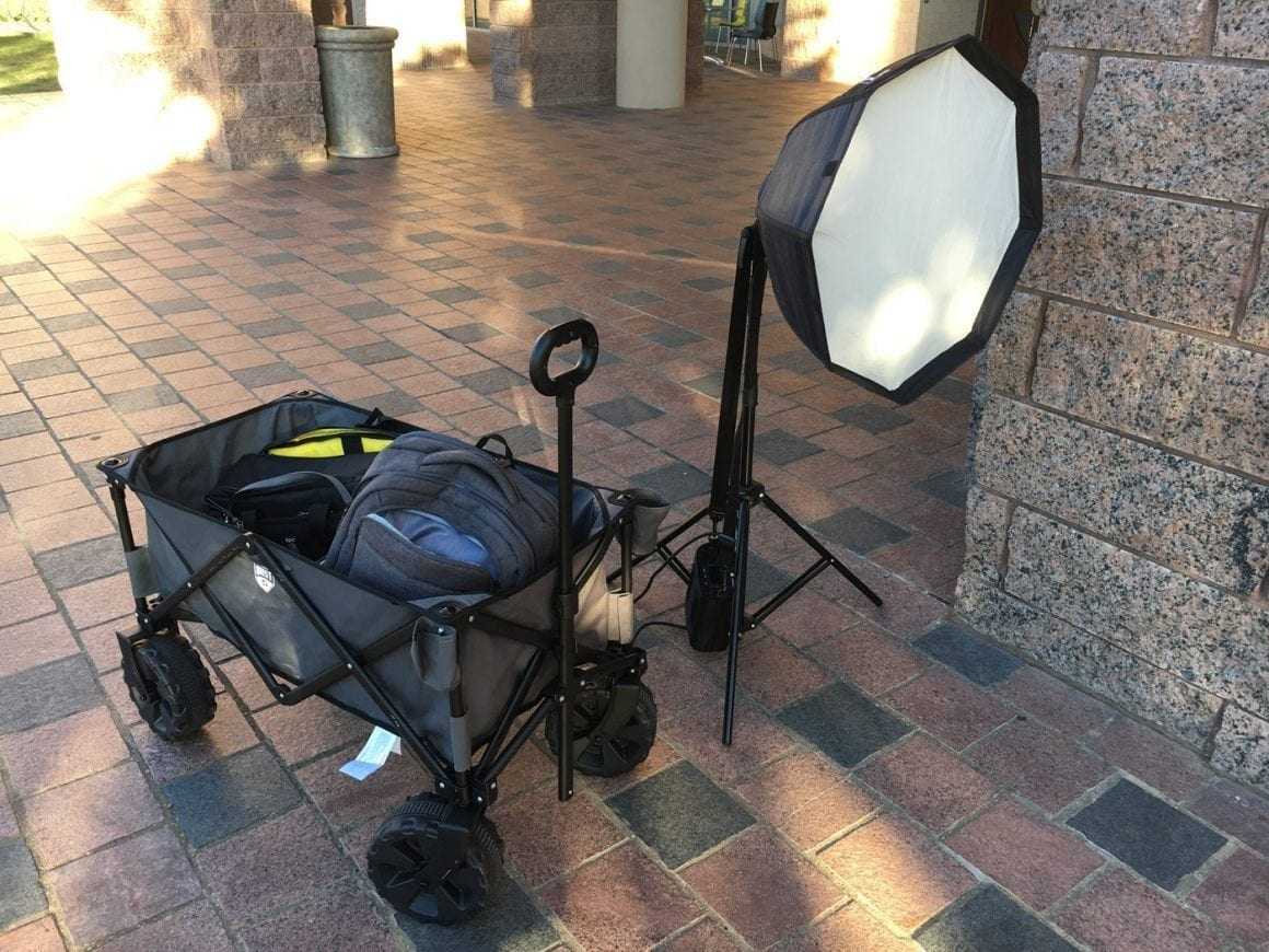 portrait photography workflow on location