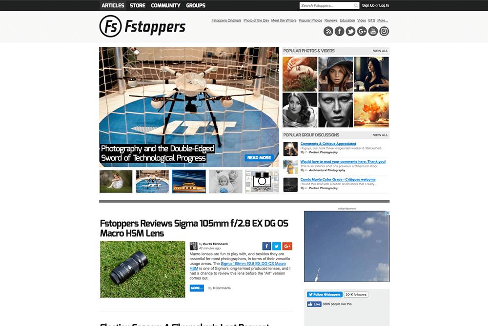 Fstoppers.com website