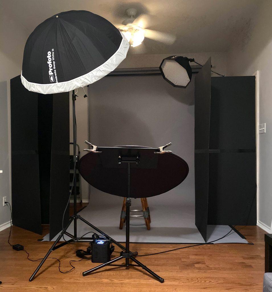 Consider building a home studio for ideas portrait shoot locations