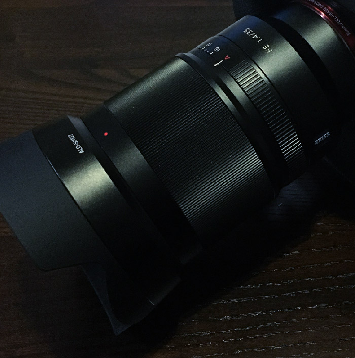 Sony 35mm f1.4 Zeiss Lens