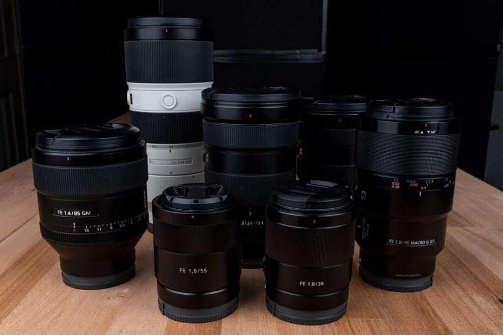 Try different lens combinations when renting online