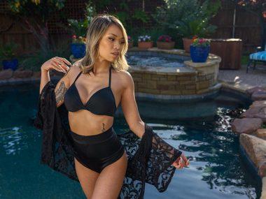 swimsuit portrait TFP test shoot with Kristi
